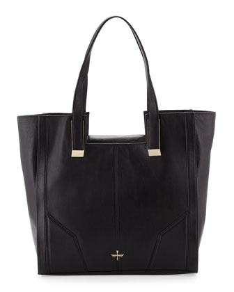 Astrid Square Tote Bag, Black