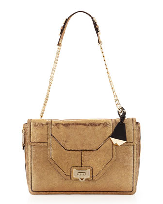 Allie Lam?? Flap Shoulder Bag, Day Glow