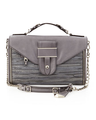 Hunnington Woven Clutch Bag, Gray