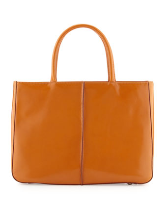 Mariella Open-Top Satchel, Amber