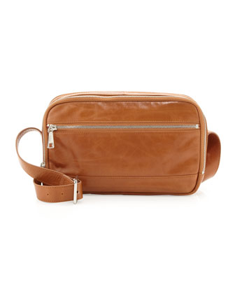 Connie Square Crossbody Bag, Caramel