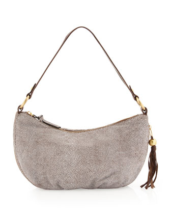 Phoebe Stingray Print Shoulder Bag, Gray