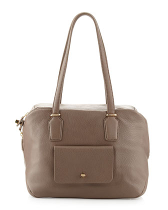 Preface Pebble Leather Large Satchel Bag, Slate