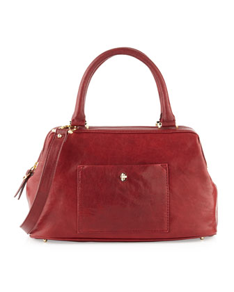 Epic Leather Satchel/Shoulder Bag, Cordovan Red