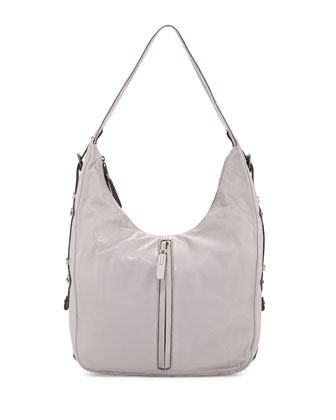 Cori Leather Zip Hobo Bag, Opal