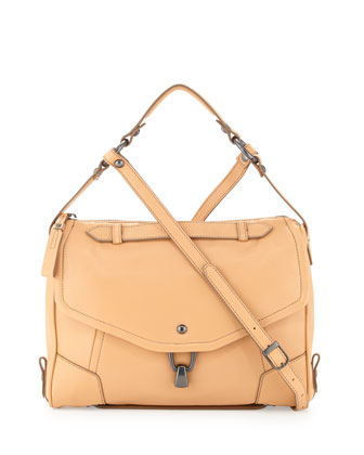 Alexa Leather Crossbody Bag, Camel
