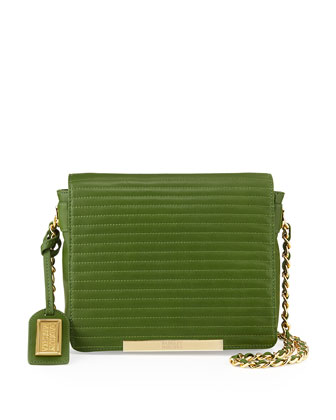 Nora Quilted Top Shoulder Bag, Avocado