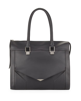 Prouve Smooth Leather Tote Bag, Black