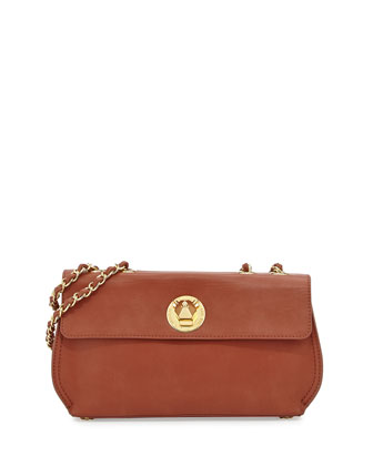 Borsa Faux-Leather Crossbody Bag, Brown
