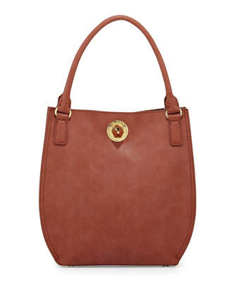 Nappa Faux-Leather Tote Bag, Brown