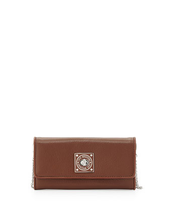 Turn-Lock Wallet Clutch, Natural