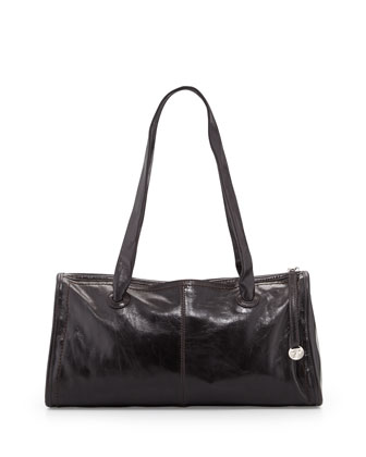 Frida Leather Shoulder Bag, Black