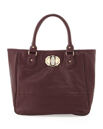 Rumi Pebbled Tote Bag, Grape