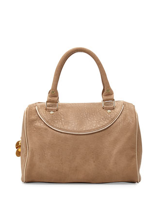 Tate Grainy Duffel Satchel Bag, Camel