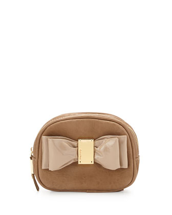 Joy Bow Cosmetic Pouch, Camel