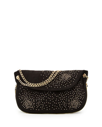 Atlantis Studded Shoulder Bag, Black