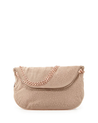 Atlantis Studded Shoulder Bag, Blush