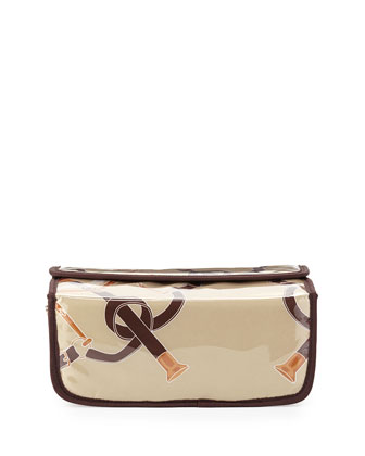 Steeplechase Magnetic Large Cosmetic Case, Tan