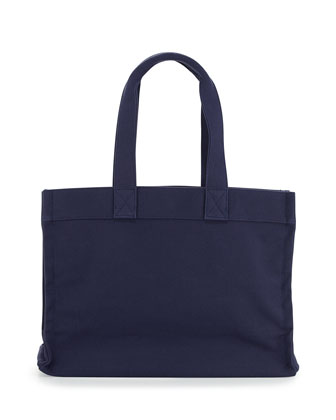 Village Canvas Tote Bag, Navy