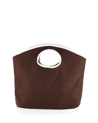 Classic Canvas Mini Grab Bag, Brown