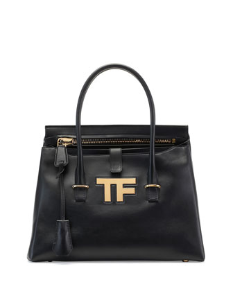 TF Icon Medium Satchel Bag, Black
