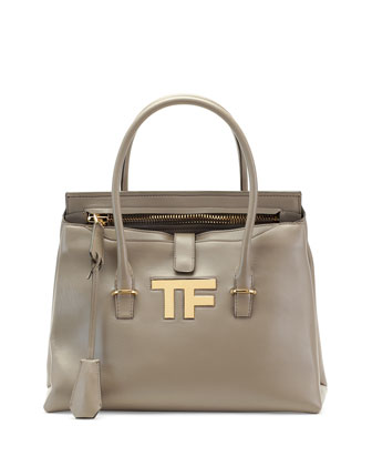 TF Icon Medium Satchel Bag, Taupe