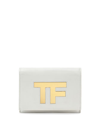 TF Small Flap Crossbody Bag, White