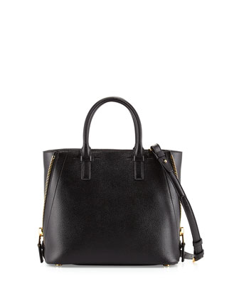 Jennifer Small Trap Tote Bag, Black