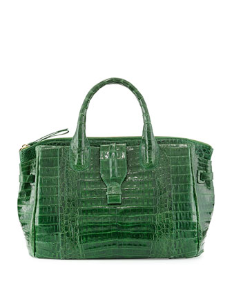 Large Crocodile Tote Bag, Kelly Green (Made to Order)
