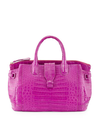 Large Crocodile Tote Bag, Magenta (Made to Order)