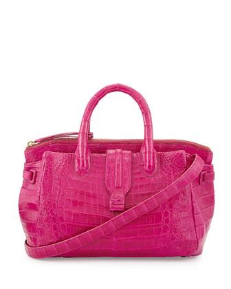 Large Crocodile Tote Bag, Pink (Made to Order)