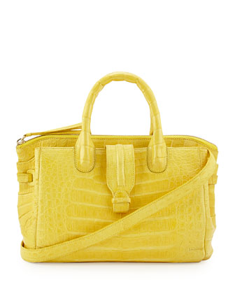 Large Crocodile Tote Bag, Yellow (Made to Order)