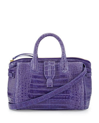 Large Crocodile Tote Bag, Purple (Made to Order)