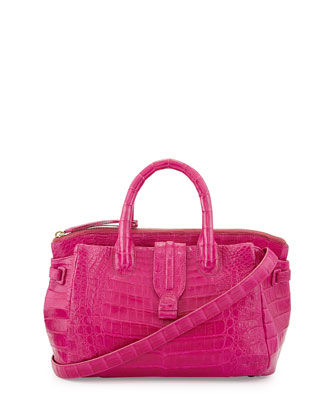 Medium Crocodile Tote Bag, Pink (Made to Order)