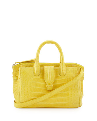 Medium Crocodile Tote Bag, Yellow (Made to Order)