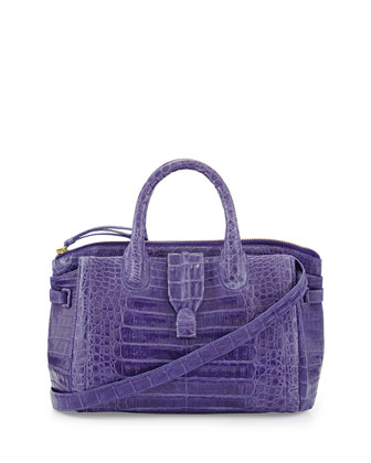 Medium Crocodile Tote Bag, Purple (Made to Order)