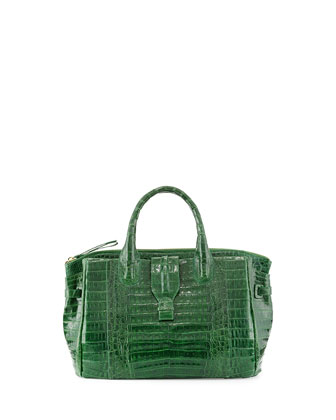 Small Crocodile Tote Bag, Kelly Green (Made to Order)