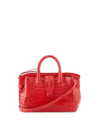 Small Crocodile Tote Bag, Red (Made to Order)