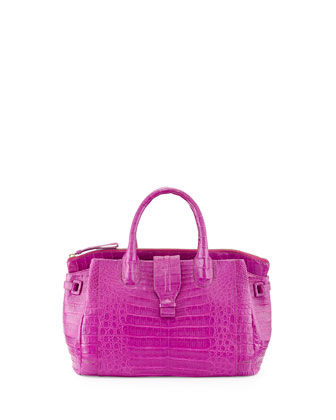 Small Crocodile Tote Bag, Magenta (Made to Order)