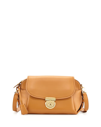 Fiamma Flap Shoulder Bag, Sienne