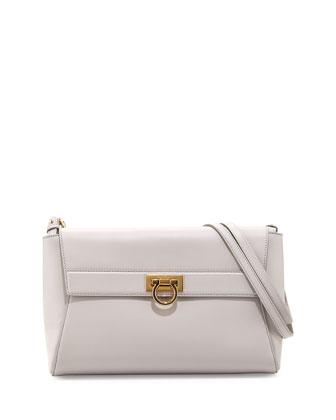 Abbey Leather Shoulder Bag, Nuage