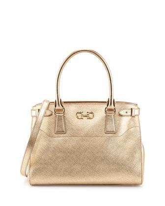 Batik Saffiano Tote Bag, Oro