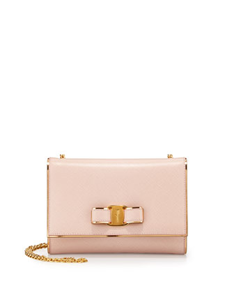 Miss Vara Bow Mirror Crossbody Bag, Macaron