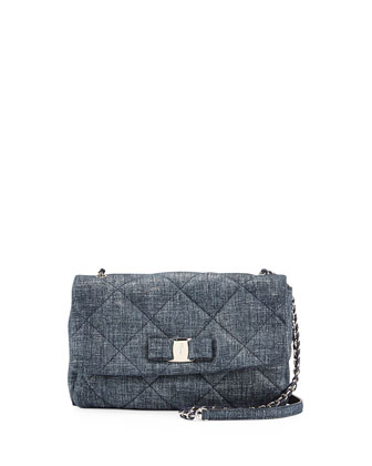 Gelly Quilted Suede Crossbody Bag, Oxford