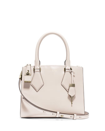 Casey Small Satchel Bag, Vanilla