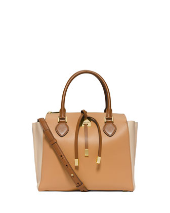 Miranda Large Colorblock Tote Bag, Peanut