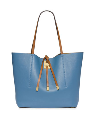 Miranda Large Colorblock Tote Bag, Cornflower