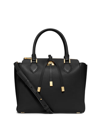 Miranda Large Satchel Bag, Black