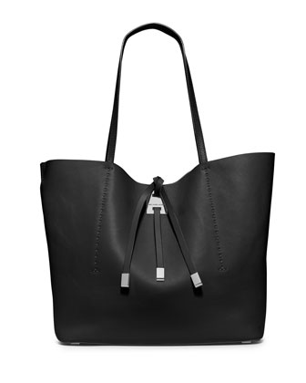 Miranda Large Colorblock Tote Bag, Black