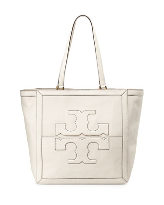 Jessica Leather Tote Bag, Birch